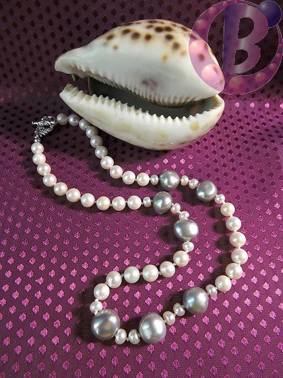 жемчужное ожерелье с барочными жемчужинами